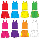Single and Shorts with colorful. Collection Vector Illustration