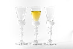 Single Shot Glass Wine Style Isolated White Background Triple Th Royalty Free Stock Photography