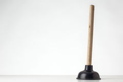 Single sink plunger Stock Photo