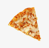 Single Slice Baked Cheese Pizza Royalty Free Stock Photo