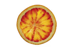 Single slice of blood orange, close-up Stock Photography