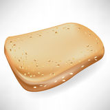 Single slice of bread Stock Images