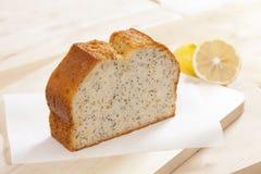 Single slice cake with poppy royalty free stock photography