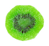 A single slice of candied kiwi fruit Stock Images