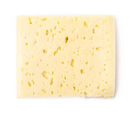 Single slice of cheese  Royalty Free Stock Photography