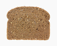Single Slice Dark Whole Grain Wheat Bread Stock Photography