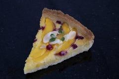 cranberry peach almond tart royalty free stock photos