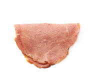 Single slice of ham isolated Royalty Free Stock Images