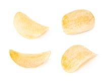 Single slice of potato chip isolated Royalty Free Stock Photo