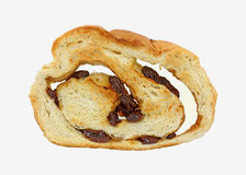 Single Slice Raisin Bread Royalty Free Stock Images