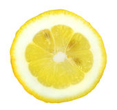 Section of yellow lemon Stock Images