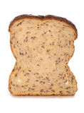 Single slice of seeded bread Stock Photos