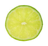 Single Slice Of Tart Green Lime Stock Image