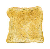 Single Slice of toasted brown bread isolated on a white Stock Photo