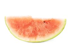 Single slice of a watermelon fruit isolated Royalty Free Stock Images