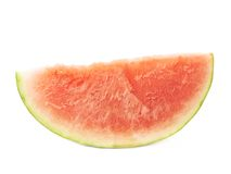 Single slice of a watermelon fruit isolated Royalty Free Stock Photo