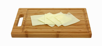 Single Slices Deli Cheese Royalty Free Stock Photography