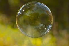 Single soap bubble Royalty Free Stock Photo