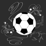 Single soccer ball Royalty Free Stock Images