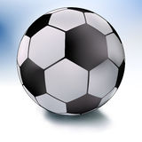 Single soccer ball on white and sky. EPS 8 Royalty Free Stock Image
