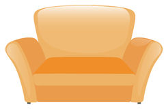 Single sofa in yellow color Royalty Free Stock Photos