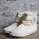 Single Soft and Warm Fleece Boot Royalty Free Stock Images