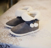 Single Soft and Warm Fleece Boot Stock Images