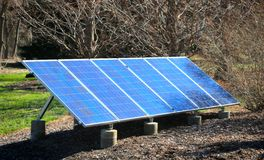 Single Solar Panel Royalty Free Stock Photography