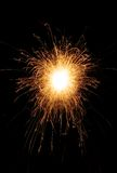 Single Sparkler. A single isolated sparkler shot Royalty Free Stock Images