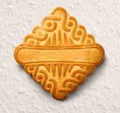 Single square biscuit Royalty Free Stock Images