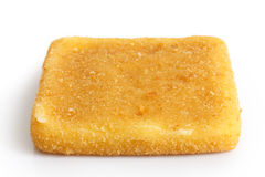 Single square golden fried cheese Stock Images