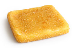 Single square golden fried cheese Royalty Free Stock Photography