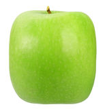Single square green apple Stock Image