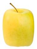 Single square yellow apple Royalty Free Stock Photo