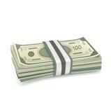 Single stack of money isolated on white Stock Image