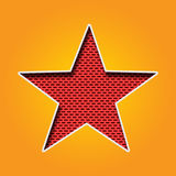 Single Star Icon in Orange and Yellow color Royalty Free Stock Image