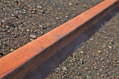 Single Steel Rail Beam Royalty Free Stock Photo