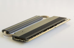 A Single Stick of Ram with Heat Sink Royalty Free Stock Photography