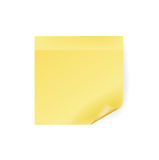 Single sticky note  on white Royalty Free Stock Photo