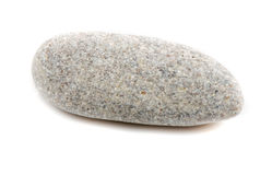 Single stone isolated on white background Stock Photography