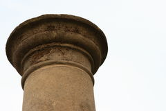 Single stone pillar. Architectural details of single stone pillar Royalty Free Stock Photography