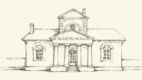 Front Door Drawing freehand drawing of old front door stock vector - image: 48998264