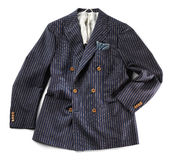 Single striped jacket with pinstripes Royalty Free Stock Image