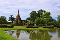 Single Stupa - Sukhothai Historical Park Royalty Free Stock Photos