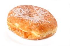 A single sugar covered Paczek. A single fresh Polish doughnut called Paczek Royalty Free Stock Image