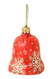 Single sweet as christmas red bell Royalty Free Stock Images