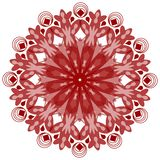 Single symmetric geometric circle ornament in vintage style Royalty Free Stock Photos
