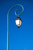 Single tall street lamp. Old fashioned. Royalty Free Stock Photos