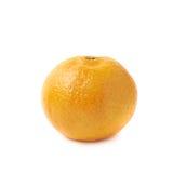 Single tangerine fruit isolated Stock Photography
