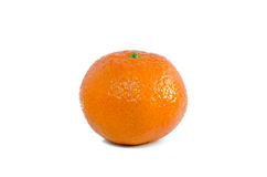 Single tangerine, mandarin Royalty Free Stock Images